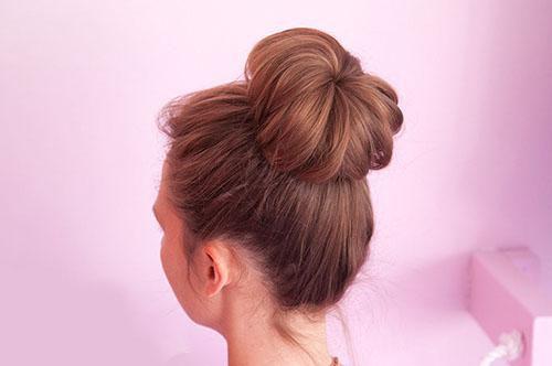 آموزش مدل شنیون موی گوجه ای