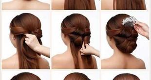 آموزش مدل موی ساده مناسب نامزدی و عروسی